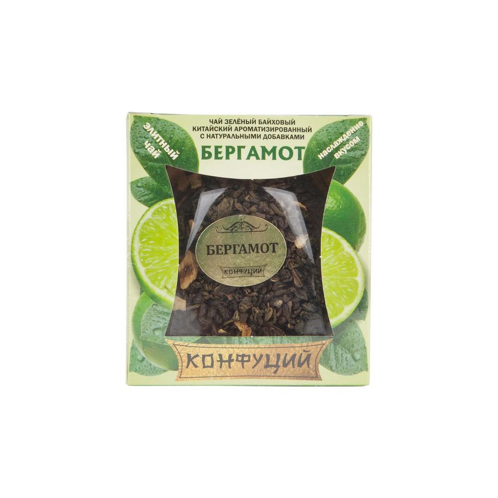 чай конфуций бергамот зеленый